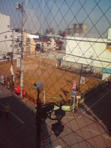 浜田山駅ビルからDAIK跡地を望む