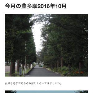 (4)今月の豊多摩2016年10月